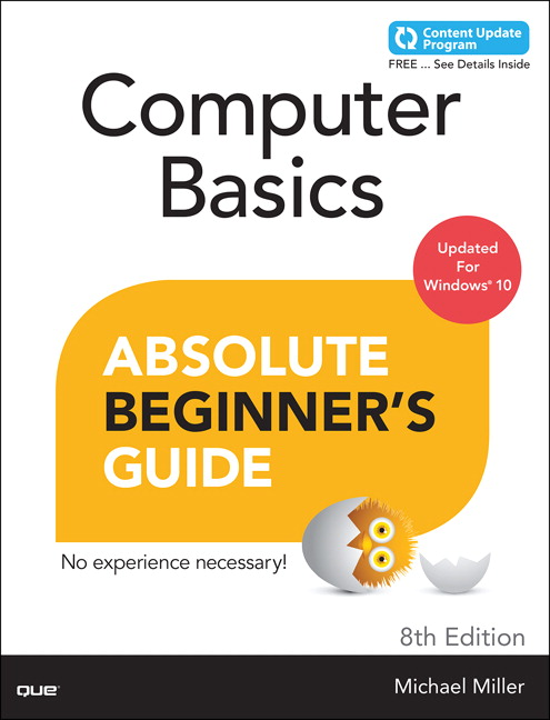 Book Cover - Computer Basics Absolute Beginner's Guide, Windows 10 Edition (includes Content Update Program), 8th Edition